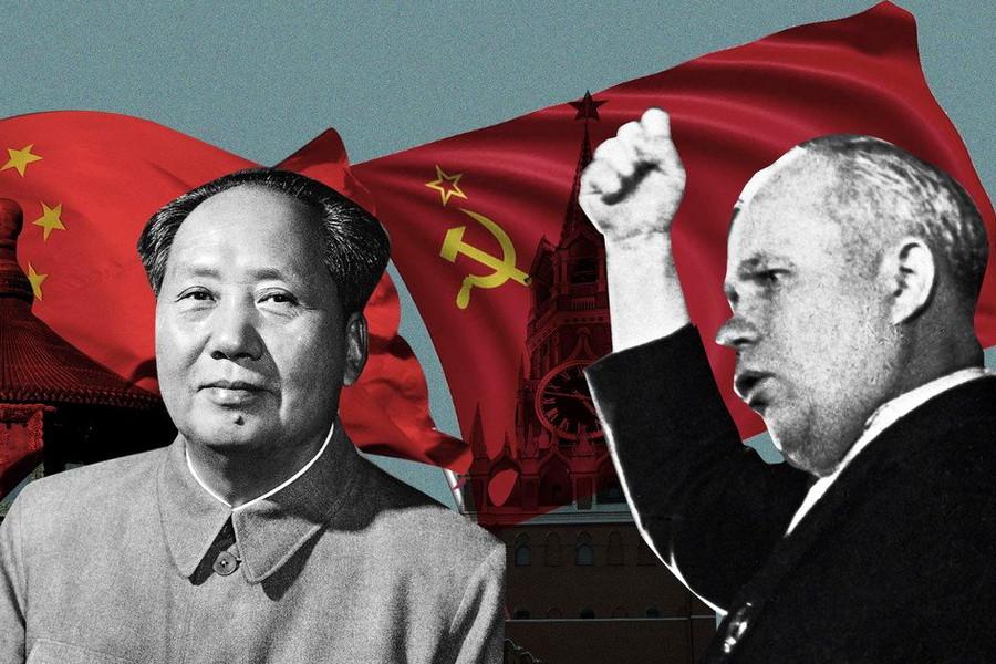 СССР и КНР Хрущев и Мао